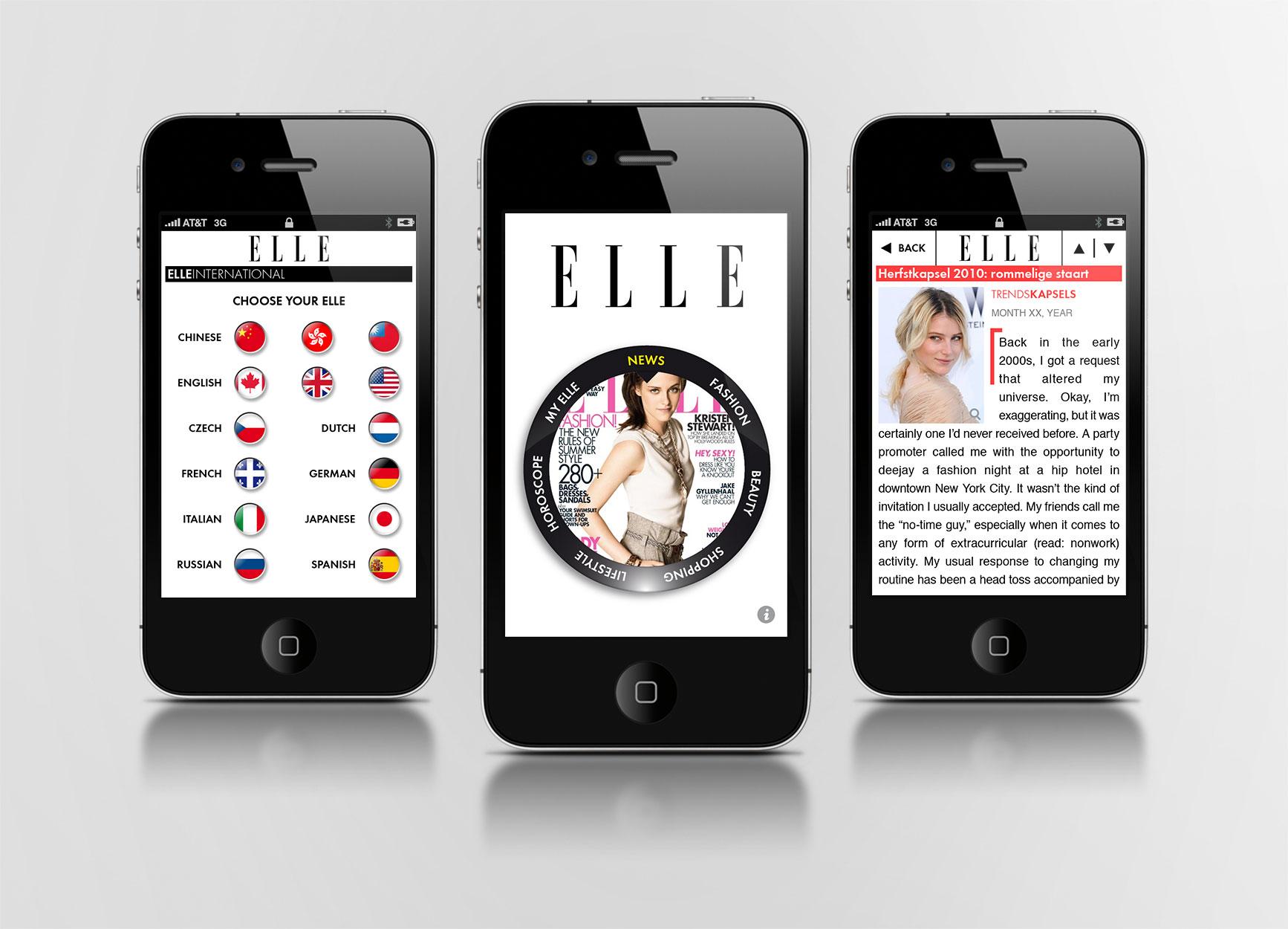 Application ELLE international