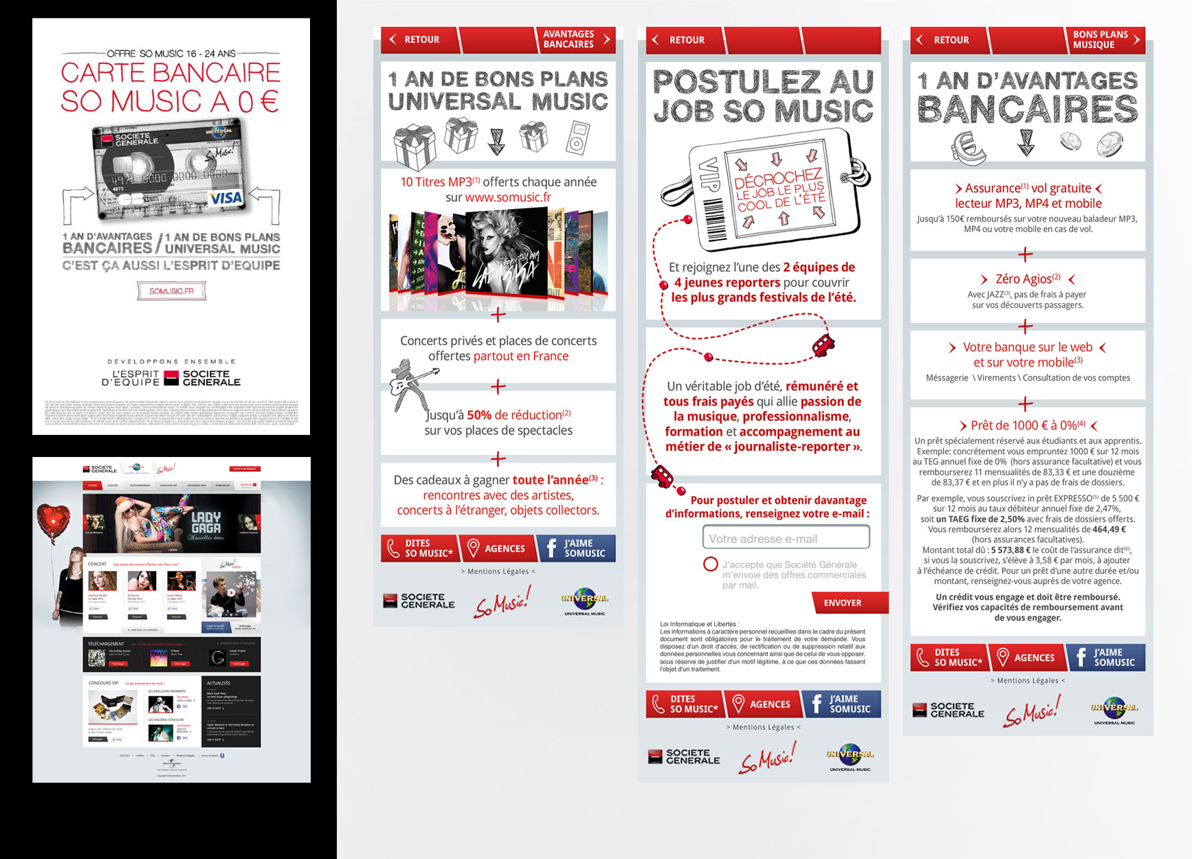Campagne Fred & Farid / Site SoMusic :: Pages Site Mobile