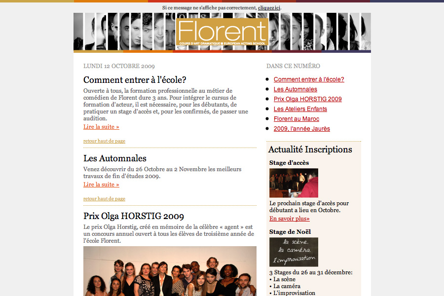 Newsletter Florent